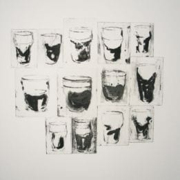 Untitled (13 Black and White Glasses)